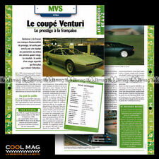 #hvf.10.05.a MVS VENTURI V6 1986 Sport Car Fiche Auto