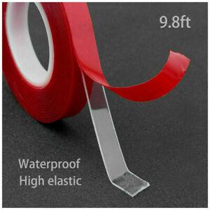 300cm/3M Acrylique Transparent Ruban Adhésif Double Face Fort Voiture Sticker