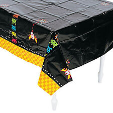 80's PARTY Space Invaders Table Cover Plastic Tablecloth Table Cloth 274 x 137cm