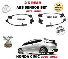 für Honda Civic Typ R CDTI VTEC Typ S 2006> 2x Hinten Links + RECHTS ABS Sensor