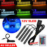 9 LED Car Interior RGB LED Strip Lights Atmosphere Decorative Neon Music Lamp AU