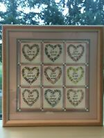 Love is Patient Love is Kind Charles F Humphrey Floral Hearts Art Print Framed