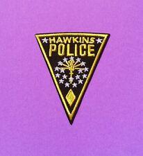 STRANGER THINGS Hawkins Police Iron on Patch -retro USA TV drama spooky weird