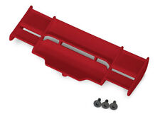 Wing, Rustler 4X4 (red)/ 3x8mm FCS (3) Traxxas TRA6721R