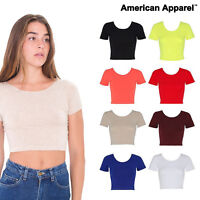 American Apparel Women's crop top (RSA8380) -Short Sleeve Casual stretch T-shirt