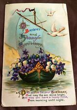 Postcard Holiday Birthday Early 1900's Divided Back