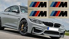 4 M Bremssattel Aufkleber Sticker M Logo BMW M Power  Bremse 3er 5er 48 schwarz
