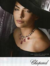 Publicité 2012 CHOPARD collier collection bague bracelet bijoux joaillier