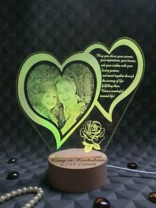 Personalised Night Lamp, Personalised Anniversary Gift, Gift for Couple