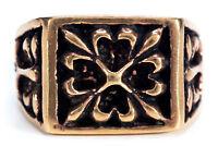 Werthor Mittelalter Siegel Ritter Ring Bronze Gothic Schmuck - NEU
