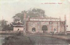 Carte postale ancienne INDOCHINE VIETNAM SEPT-PAGODES pagode écrite