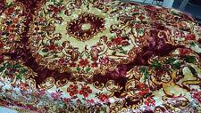 Vintage Italian Velvet Cherubs Roses Bedspread/Tapestry 100X82