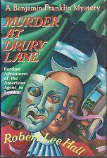 mord zu drury lane von robert lee hall ~ 1992 hc dj fe ben franklin mystery