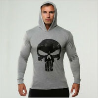 Muscle Fit Men Gym Hoodie Bodybuilding Athletic Apparel Pullover Sweats#1