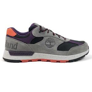 Timberland Field Trekker Low Hiker Mens 12 Gray Suede Hiking Shoes Sneakers