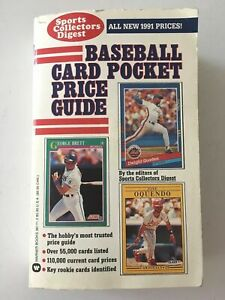 1991 Baseball Card Pocket Price Guide by Sports Collectors Digest, Good
