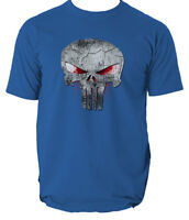 The Punisher Skull Logo T-Shirt Frank Castle Skull Marvel Agent Splatter