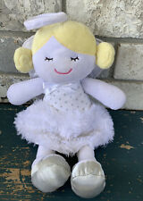 Baby Gear 12� Plush Angel Doll Blonde White Silver Wings Halo Lovey Stuffed P8