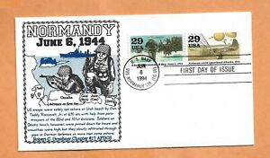 NORMANDY JUN 6,1994 USS NORMANDY STA FDC U.S COVER >