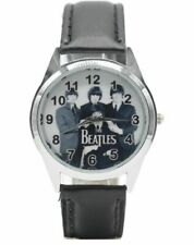 The Beatles Music Band Black Leather Wristband Watch