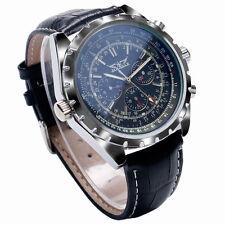 JARAGAR Military Calendar Genuine Leather Automatic Mechanical Men's Wrist Watch
