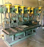 Buffalo #16 6 Headed head Gang Drill Press With Large Cast Iron fluid table