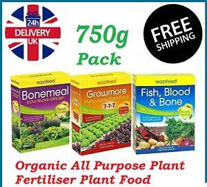 Organic All Purpose Plant Fertilisers Plant Food Vegetable Fertiliser Feed 750g