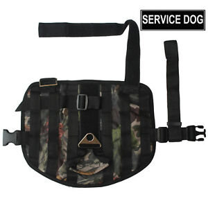 Service Dog Vest for Medium Large Dogs Training Molle Dog Harness for Pit Bull