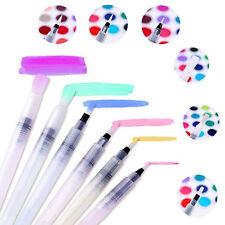 6 X Pilot Water Brush Ink Pen color/Calligraphy/Paint Beginner Art Drawing Tool