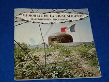 MEMORIAL de la ligne maginot MARCKOLSHEIM bas rhin 1973