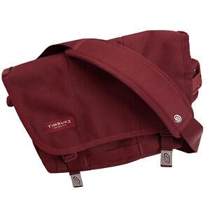 TIMBUK2 Itsy Bitsy Teenie Weenie Messenger Bag Burgundy Red 12in Padded Strap