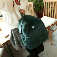 Fashion Solid Color Corduroy Backpacks Simple  Student Bag Travel Storage Bag