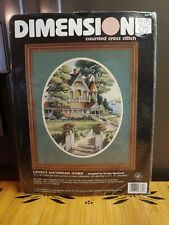 New ListingDimensions Lovely Victorian Home Counted Cross Stitch Picture Kit 3874