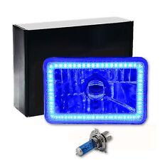 "4X6"" Blue SMD LED Halo Crystal Glass / Metal Headlight Light Bulb Headlamp: EACH"