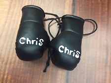 Pair Personalised Mini Boxing Gloves. Any Name  Pink, Blue, White, Silver, Gold