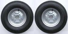"Pair of Trailer Wheels 500 x 10"" 4 Ply 4"" PCD with Grease Nipple cut out 355 Kg"