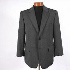 Savile Row Mens 41R Gray Herringbone Wool Blazer Sport Coat Jacket 352
