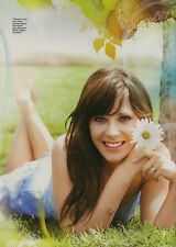 Zooey Deschanel 6pg + cover SELF magazine feature, clippings