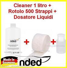 CLEANER 1litro + rotolo 500 pad + dosatore pump RICOSTRUZIONE UNGHIE SMALTO GEL!