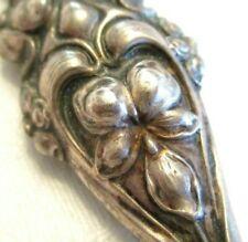 ART NOUVEAU Antique STERLING SILVER Letter OPENER w/ WILD PANSY HANDLE