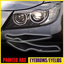 PAINTED BMW E90 EYELID HEADLIGHT EYEBROW EYELIDS 668 BLACK