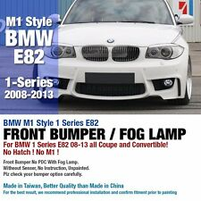 M1 Style Front Bumper W/O PDC With Fog Light Lamp For BMW 2008-2013 1 Series E82
