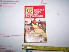 FUNK'S G HYBRID SEED CORN MEMO BOOK, 1974, NEVER BEEN WRITTEN IN