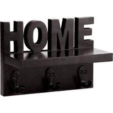 Onlineshoppee Wooden Handicraft Home Wall Shelf/Cloth Hanger With 3 Hooks