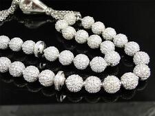Islam Allah Simulated Diamond Custom .925 Sterling Silver Prayer Beads Tasbih