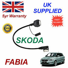 Skoda Fabia Ami Mmi AZO800001 para Apple Iphone 3gs 4 4s Ipod Cable de Audio