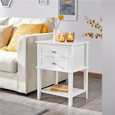 More details for 1pc/2pcs nightstand end table bedside table with 2 drawers & shelf for bedroom