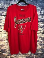 Tampa Bay Buccaneers Football NFL T-Shirt Cool Team Apparel Red Size XL🔥
