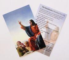 Beatitudes - Sermon On The Mount (Matthew 5:1-12) - Prayer Card