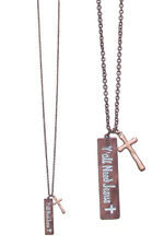 Y'all Need Jesus long bar Necklace Long 30 Inch Length copper colored